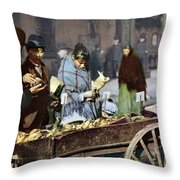 New York: Banana Cart Throw Pillow