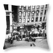 New York: Bank Run, 1930 Throw Pillow