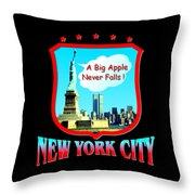 New York Big Apple Design Throw Pillow