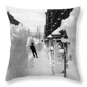 New York: Blizzard Of 1888 Throw Pillow