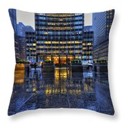 New York Blues Throw Pillow