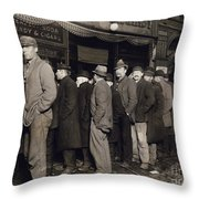 New York: Bread Line, 1907 Throw Pillow