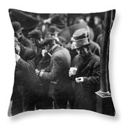 New York: Bread Line, 1915 Throw Pillow
