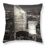 New York Citigroup Center  Throw Pillow