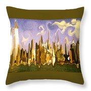 New York City 2200 - Modern Art Throw Pillow