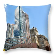 New York City Architecture Throw Pillow