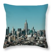 New York City Blues Throw Pillow