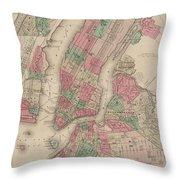 New York City, Brooklyn, Jersey City, Hoboken Throw Pillow