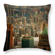 New York City Buildings And Skyline Throw Pillow