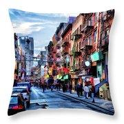 New York City Chinatown Throw Pillow