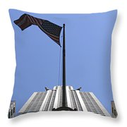New York City - Chrysler Building 003 Throw Pillow