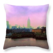 New York City From Hoboken Throw Pillow