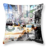 New York City Geometric Mix No. 9 Throw Pillow