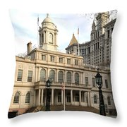 New York City Hall Throw Pillow