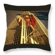 New York City Jogger - Collage Throw Pillow