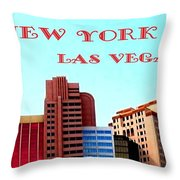 New York City- Las Vegas Throw Pillow