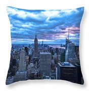 New York City Looking South Throw Pillow