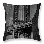 New York City - Manhattan Bridge Throw Pillow