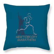 New York City Marathon3 Throw Pillow