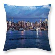 New York City Nyc At Dusk Throw Pillow
