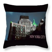 New York City Poster - Wall Street Throw Pillow