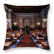 New York City Public Library Rose Reading Room Throw Pillow
