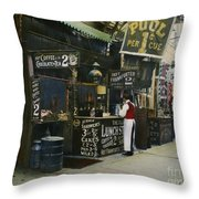 New York City Restaurant Throw Pillow