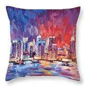 New York City Skyline 02 Throw Pillow