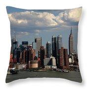 New York City Skyline 4 Throw Pillow