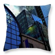 New York City Skyline, No. 27 - Yellow Street Lamp Throw Pillow