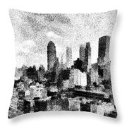 New York City Skyline Sketch Throw Pillow