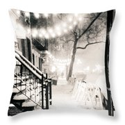 New York City - Snow Throw Pillow by Vivienne Gucwa
