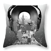 New York City Sound Throw Pillow