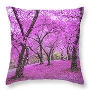 New York City Springtime Throw Pillow