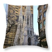 New York City St. Patrick's Cathedral Throw Pillow