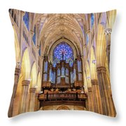 New York City St Patrick's Cathedral Organ Throw Pillow