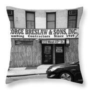 New York City Storefront Bw4 Throw Pillow