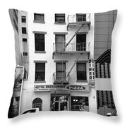 New York City Storefront Bw5 Throw Pillow