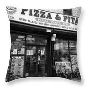 New York City Storefront Bw6 Throw Pillow
