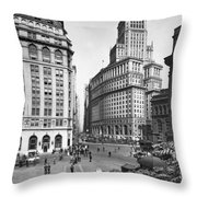 New York City Street Scene Throw Pillow