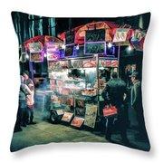 New York City Street Vendor Throw Pillow