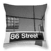 New York City Subway 86 Street Throw Pillow by Ranjay Mitra
