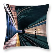 New York City Subway Station Throw Pillow
