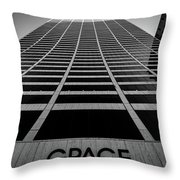 New York City - W. R. Grace Building Throw Pillow