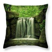 New York City Waterfall Throw Pillow