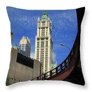 New York City - Woolworth Building Throw Pillow