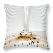 New York City World Trade Center Oculus Throw Pillow