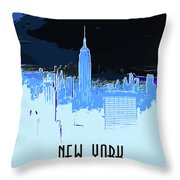 New York City X Ray Throw Pillow