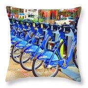 New York Citybike 1 Throw Pillow