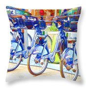 New York Citybike 2 Throw Pillow